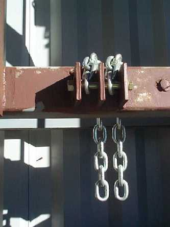Roof Tie-Down Chains - Top